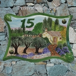 PLAQUE PARCHEMIN GRAND MODELE DECOR CAMPAGNE PROVENCALE