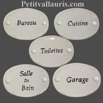 WHITE COLOR OVAL DOOR PLAQUE WITH CUSTOMIZED INSCRIPTION