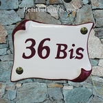 HOUSE PLAQUE PARCHMENT SMALL MODELWHITE COLOR AND PINK TEXT