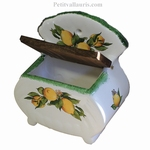 SALT BOX WITH YELLOW LIMON  DECORATION