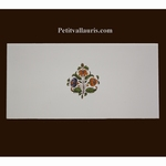 DECOR FLEURS POLYCHROME 2114 SUR CARREAU 10 X20