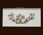 2912 TILE DECOR FLOWER WITH FRIEZE OLD MOUSTIERS TRADITION