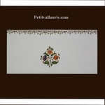 2214 TILE DECOR FLOWER WITH FRIEZE OLD MOUSTIERS TRADITION