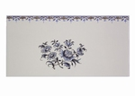 2970 TILE EARTHENWARE D. FLOWER WITH FRIEZE BLUE TRADITION
