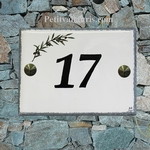 HOUSE PLAQUE GREY BORDER AND OLIVES BRANCH DECORATION
