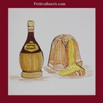 CHIANTI AND PANETONE DECORATION ON EARTENWARE TILE