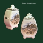FAIENCE CHIMNEY POT SIZE 1 WITH PROVENCE DECOR