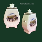 FAIENCE CHIMNEY POT SIZE 3 WITH PROVENCE DECOR