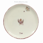 CERAMIC PLATE CHERUBIN DECORATION WITH CUSTOMIZE TEXT