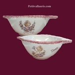 BOWL WITH HANDLES CHERUBIN DECORATION WITH CUSTOMIZE TEXT