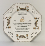 MARRIAGE PLATE OCTAGONAL MODEL WITH DIAMOND POEM