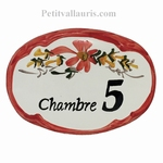 OVAL DOOR PLAQUE DECOR WITH NUMBER AND CUSTOMIZED TEXT