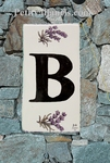HOME ADDRESS PLATE LETTER (S) TO UNIT LAVENDERS DECORATION