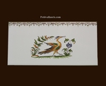 DECOR OISEAU POLYCHROME 2216 + FRISE SUR CARREAU 10 X20