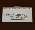 DECOR OISEAU POLYCHROME 2217 + FRISE SUR CARREAU 10 X20