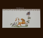 2210 TILE LION DECOR WITH FRIEZE OLD MOUSTIERS TRADITION