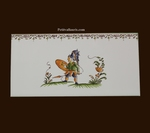 2210 TILE WARRIOR DECOR WITH FRIEZE OLD MOUSTIERS TRADITION