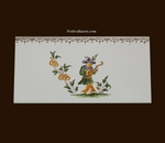 2211 TILE MUSICIAN DECOR WITH FRIEZE OLD MOUSTIERS TRADITION