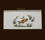 2215 TILE BIRD DECOR WITH FRIEZE OLD MOUSTIERS TRADITION