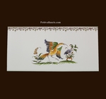 2214 TILE BIRD DECOR WITH FRIEZE OLD MOUSTIERS TRADITION