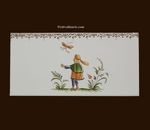 2213 TILE COURTIER DECOR WITH FRIEZE OLD MOUSTIERS TRADITION