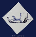 DECOR DIAGONALE TRADITION VIEUX MOUSTIERS BLEU REF 2960