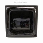 SQUARE CARRY SOAP WALL CERAMIC TO BUILT BLACK COLOR ENAMELED