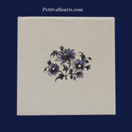 DECOR SUR CARRELAGE FLEURS MEDIUM BLEUE