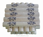 LARGE LISTEL T. OLD MOUSTIERS BLUE DECORATION BEIGE COLOR
