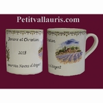 MUG WITH CUSTOMIZED INSCRIPTION WITH PROVENCE DECOR