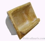 CARRY SOAP WALL CERAMIC TO BUILT OCHER-YELLOW COLOR ENAMELED