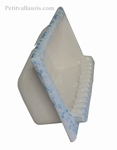 CARRY SOAP WALL CERAMIC TO BUILT CLEAR BLUE COLOR ENAMELED