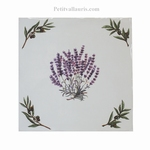 CARREAU 15X15 MOTIF BOUQUET LAVANDES+ POSE HORIZONTAL