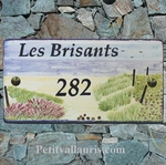 CERAMIC HOUSE PLAQUE ENAMELED WITH ATLANTIC BEACH PAINTING