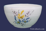 SALAD BOWL LARGE SIZE WHITE COLOR WITH BLUE & YELLOW FLOWERS