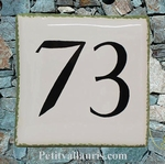 HOME NUMBER PLAQUE SIZE 15 X 15 WHITE COLOR WITH BLACK TEXT