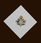 DECOR SUR CARRELAGE FLEURS MEDIUM POLYCHROME POSE DIAGONALE