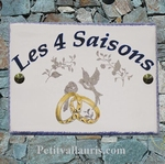 FRENCH CUSTOMIZED CERAMIC WEDDING MEMORY PLAQUE