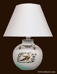 LAMPE DE CHEVET FAIENCE BLANCHE REPRODUCTION VIEUX MOUSTIERS