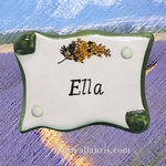 DOOR'S PLAQUE MINI MODEL PARCHMENT MIMOSAS DECORATION