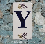 HOME ADDRESS PLATE LETTER (Y) TO UNIT LAVENDERS DECORATION