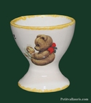 CUSTOMIZED CERAMIC EGG CUP WITH BEAR CUB DECORATION