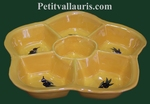 LARDGE FAIENCE DISH PROVENCAL COLOR WITH BLACK OLIVES