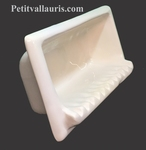 CARRY SOAP WALL CERAMIC TO BUILT WHITE IVOIRE COLOR ENAMELED