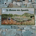 HOUSE PLAQUE MODEL WITH GRAPES HARVEST IN SOUTH FRANCE PAINT