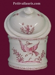 COTTON POT BATHROOM PINK OLD MOUSTIERS TRADITION DECORATION
