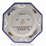 MARRIAGE PLATE OCTAGONAL MODEL WITH GEORGES SAND POEM