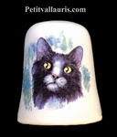 DES A COUDRE DECORATIF MOTIF CHAT BI-COLOR