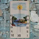 CUSTOMIZED DECORATIVE SUNDIAL ON PLAQUE SEABORDER PAINT