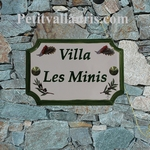 STYLE HOUSE PLAQUE CICADAS AND OLIVES DECOR WITH INSCRIPTION